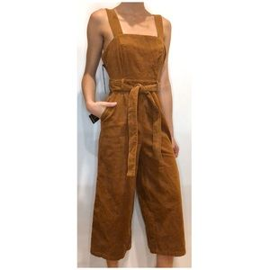 NWT Forever 21 Corduroy culotte jumpsuit